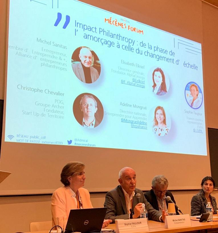 Table ronde du Mécène Forum de l'Admical avec Michel comme intervenant